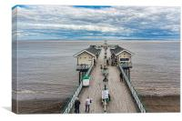 Looking Down The Pier 1, Canvas Print
