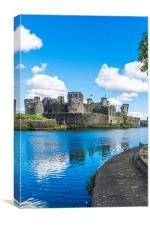 Caerphilly Castle 2, Canvas Print