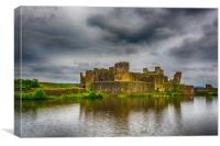 Caerphilly Castle South East View 1, Canvas Print