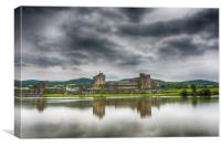 Caerphilly Castle North View 1, Canvas Print