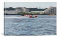 P1 Powerboats Team Wales 1, Canvas Print
