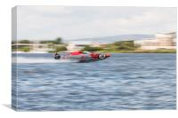 P1 Powerboats Team Wales 2, Canvas Print