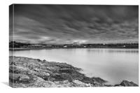 Two Minutes At Barry Island Mono, Canvas Print