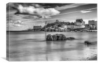 Tenby Harbour Long Exposure Mono 1, Canvas Print
