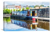 Narrow Boat The Farrier, Canvas Print