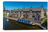 Glorious Brecon Canal Basin 1, Canvas Print