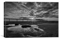 Sunset Over Southport Pier, Canvas Print