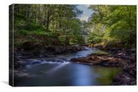 The River Brathay, Canvas Print