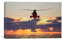Westland Sea King XV661, Canvas Print