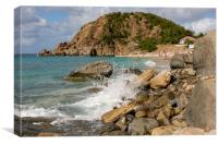 Shell Beach in St Barts, Canvas Print