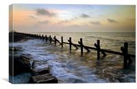 West Runton sunset, Canvas Print