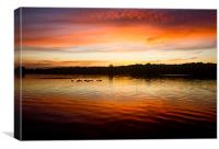Whitlingham sunset, Canvas Print