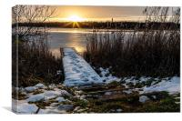 Sunset Norfolk Broads, Canvas Print