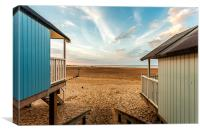 Huts with a View, Canvas Print