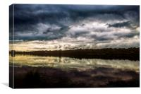 Storm on the Broads, Canvas Print