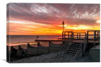 Sheringham Beach, Canvas Print
