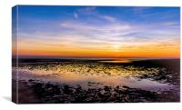 Sunset North Norfolk Coast, Canvas Print