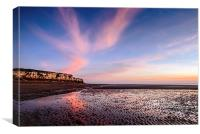 Sunset Hunstanton Cliffs, Canvas Print