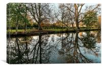 River reflections, Canvas Print