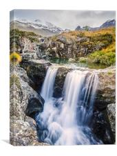 Glen Brittle Waterfall, Canvas Print
