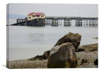 Mumbles Pier and Boathouse., Canvas Print