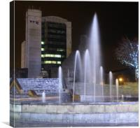 Castle Square, Fountain & Lights., Canvas Print