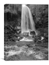 Melincourt Waterfall., Canvas Print