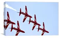 The RAF Red Arrows 5, Canvas Print