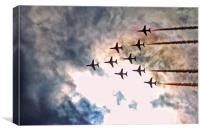 Red Arrows & Rain Clouds., Canvas Print