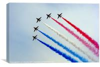 Red Arrows (Newcastle Co.Down 2011), Canvas Print