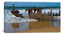 SS Dickey Shipwreck, Canvas Print