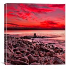 Sunset Laguna Bay Noosa , Canvas Print