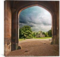 llam Hall Church, Canvas Print
