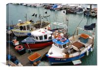 Fishing Boats at Dover, Canvas Print