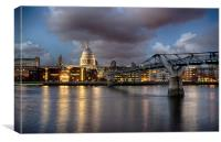 St Paul's Cathedral from across the Thames, Canvas Print