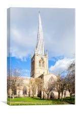 St Mary and All Saints Church, Chesterfield , Canvas Print