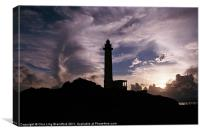 The Light House in Green Island, Taiwan., Canvas Print
