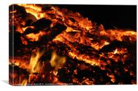 Burning embers, Canvas Print