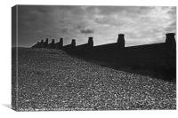 Whitstable Pebbles and Sky, Canvas Print