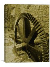 Old MIll Cog, Canvas Print