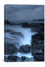 Godrevy Lighthouse 2 Moody, Canvas Print