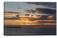 Summer Sunset in Cornwall, Canvas Print