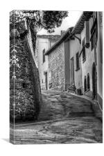 A Street in Italy, Canvas Print