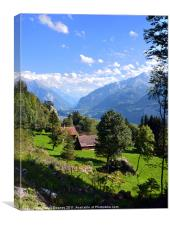 Swiss Country Side, Canvas Print