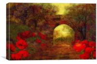 Ye olde railway bridge, Canvas Print