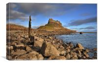 Evening Light on Lindisfarne, Canvas Print