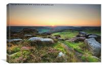 Over Owler Tor, Canvas Print