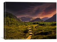 Sunset over Borrowdale, Canvas Print