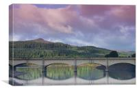 Win Hill from Ladybower, Canvas Print