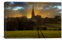 Dreaming Spire Sunset, Canvas Print